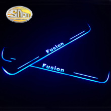 4pcs For Ford Fusion 2015 2016 2017 2018  Acrylic Moving LED Welcome Pedal Scuff Plate Pedal Door Sill Pathway Light waterproof acrylic moving led welcome pedal car scuff plate pedal door sill pathway light fit for everest 2016 2017 2018