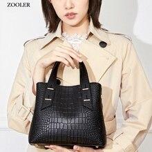 High quality HOT ZOOLER brand women bag genuine leather large bag Fashion Travel lady shoulder bags pattern Messenger Bag  WG203