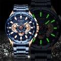 CURREN Роскошные Брендовые мужские часы  водонепроницаемые кварцевые наручные часы  спортивные часы с хронографом  мужские часы из нержавеюще...