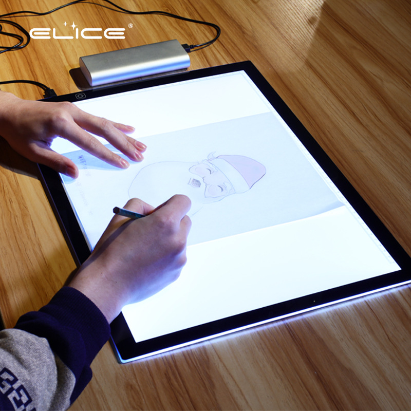 A3 Copy Desk LED Copying Taiwan Translucent Board Anime Translucent Box Calligraphy Sketch Shining Tou Xie Tai Manufacturers Dir
