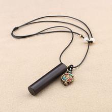 Nepal peace бренд Дракон столб черное ожерелье Женские Простые