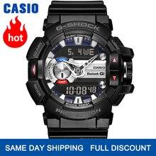 Casio watch 남자 g 충격 최고 상표 사치품은 석영 200m 방수 스포츠 잠수 손목 시계를 놓았다 시계 G 충격 군 Bluetooth 음악 통제 LED 디지털 방식으로 남자 시계