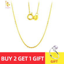 NYMPH Pendant Necklace Gold-Chain Au750 Wendding Women 18K Genuine Gift Yellow White