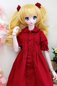 [wamami] Summer Red Dress For DD AOD LUTS VOLKS Doll Dollfie Outfits