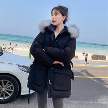 2019 New Winter Women Jacket Medium-Long Thicken Outwear Hooded Wadded Coat Fashion Slim Parka Cotton-Padded Jacket Overcoat цены онлайн