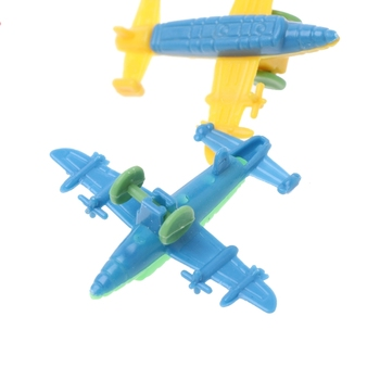 10 Pcs Mini Plastic Bomber Plane Fighter Aircraft Model Toy Military Gifts Kids Q6PD image