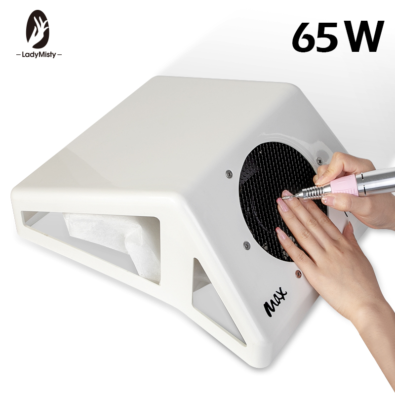 65W Strong Adjustable Speed Collector For Nail Dust Fan Vacuum Cleaner For Manicure Tool Vacuum Suction Nail Art Equipment Tool