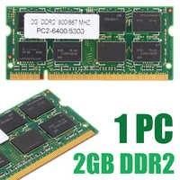 1pc 2GB DDR2 PC2 6400/5300 Notebook 800/667 MHZ Memória Portátil RAM 200pin Não-Memória ECC para Dell HP Acer ASUS