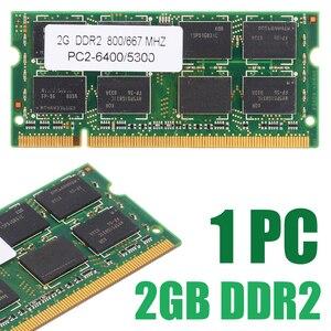 Memória ram para laptop 2gb ddr2, memória sem ecc para dell 6400/5300 800/667 mhz, 1 peça hp assoalho asus