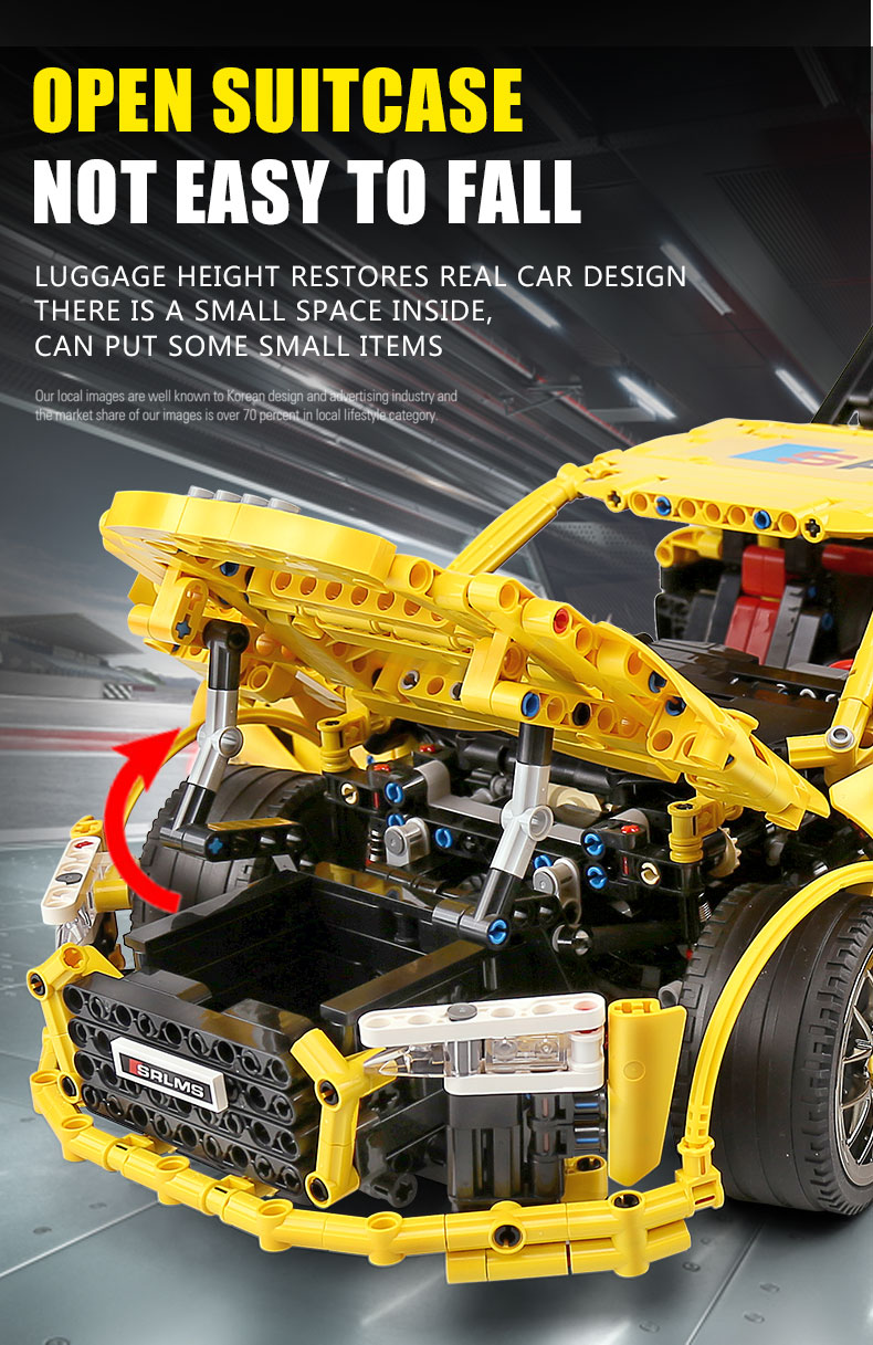 MOULD KING Compatible 13127 MOC-4463  Audis R8 V10 Speed RS5 Car Building Block (1896PCS) 4