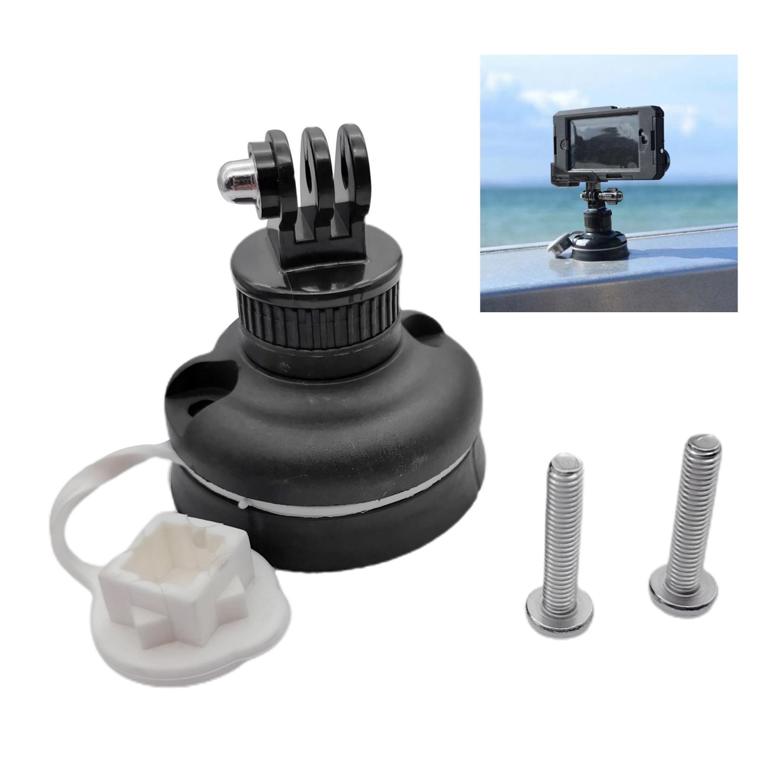 ABS Plastic Safety Kayak Sports Camera Mount Base Support Marine Inflatable Boat Canoe Compass Holder Bracket Mounting Kit