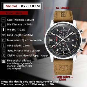 Image 2 - 2019 BENYAR Uhr Männer Top Marke Luxus Quarz Business herren Uhren Mode Militär Chronograph Sport Uhr Relogio Masculino