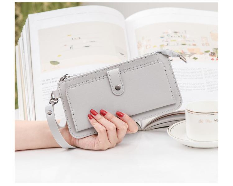 Женский Длинный многофункциональный кошелек hugwiser на молнии