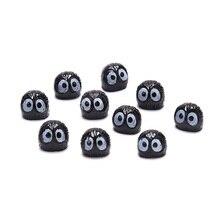 10Pcs/lot  Mini Crats Black Coal Briquettes Elves Totoro Miniature Figurines Fairy Garden Ornaments Home Decoration Accessories