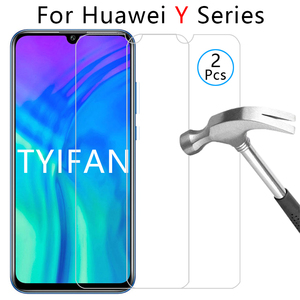 Защитное стекло для huawei y3 y5 y6 y7 y9 prime 2017 2018 2019, закаленное стекло, защитная пленка для экрана телефона на y 3 5 6 7 9 5y 6y