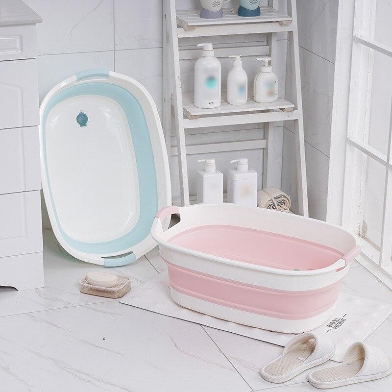 Portable Baby Bath Tub Non-Slip Foldable Bathtub Newborn Folding Pet Bathtub Bathroom Accessories Folding Bathtub Storage Tub