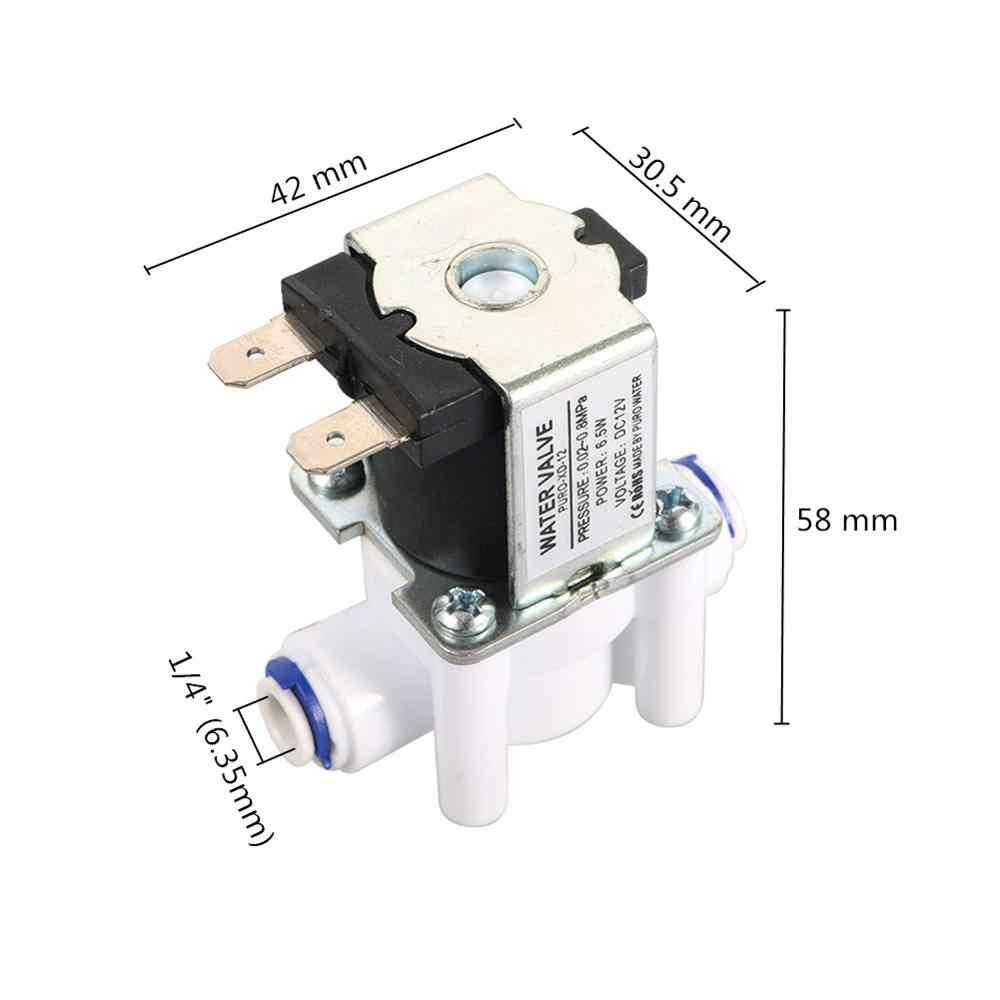 """ノーマルクローズ 1/4 """"クイックアクセス水電気ソレノイドバルブ磁気 dc 12 v 24 v 水注入口フロースイッチ浄水器バルブ"""