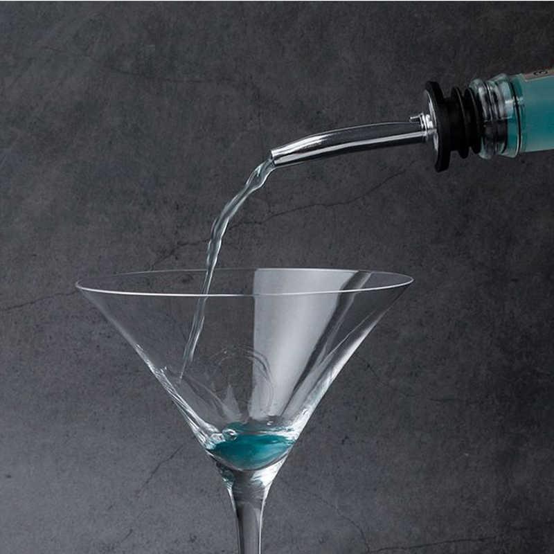 4Pcs In Acciaio Inox Whisky Liquore Tappo Olio Bottiglia di Vino Versatore Beccuccio Fermacorda E Ganci Bocca Dispenser Bartender Casa Bar Partito Accessori