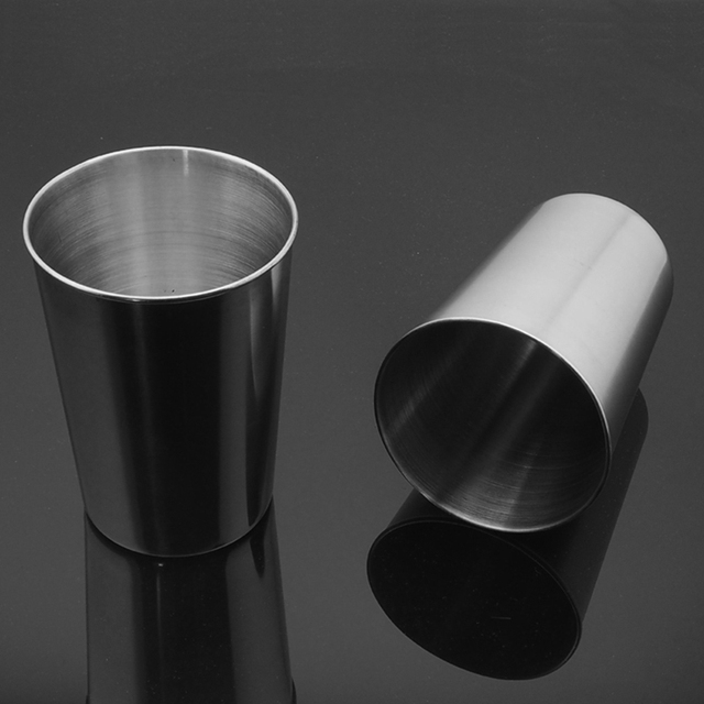 1 Pcs Stainless Steel Cup Metal Beer Wine Pint Glasses Coffee Tea Milk Mugs Home Drink Accessories 30ml/70ml/180ml/320ml 3