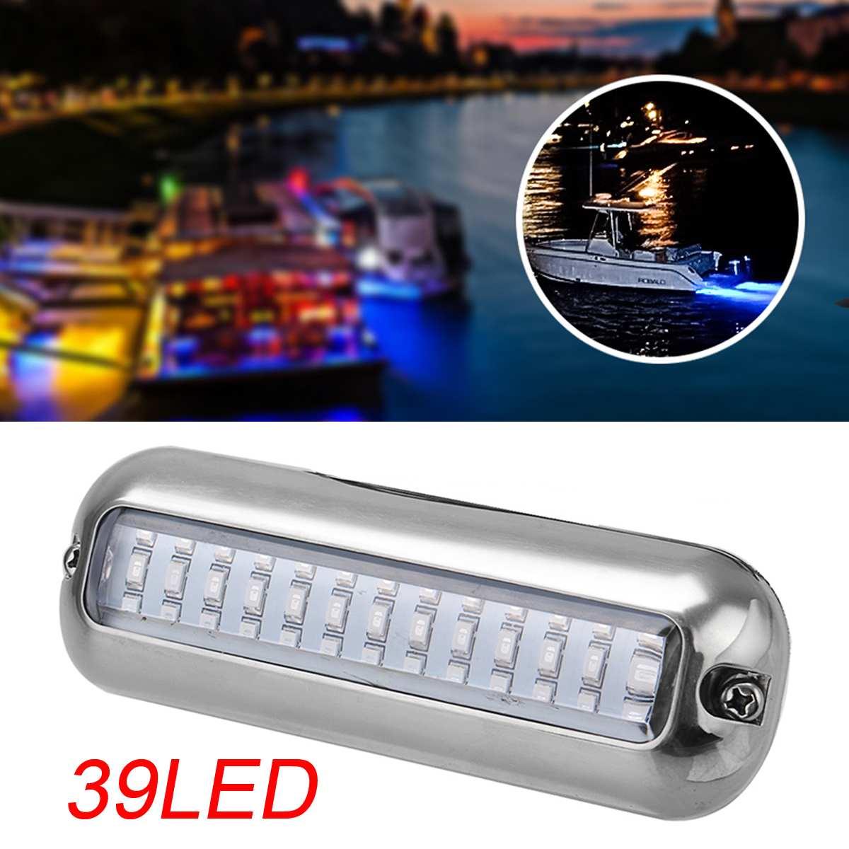 10-30VDC 5.2W 39LED Blue Waterproof High Intensity LED Underwater Lights Boat Transom Light LED Navigation Light Yacht