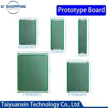 25 PIÈCES de Prototype DE CARTE PCB Circuit Protoboard Universel Double Face Prototype Bricolage Pcb Kit 4X6cm 5X7cm 3X7cm 2X8cm 7x9cm Mixte