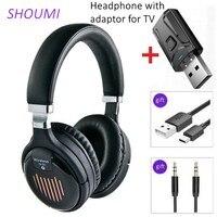 Cuffie senza fili cuffie Stereo piegate USB Bluetooth 5 adattatore riduzione del rumore auricolare con microfono per Xiaomi Samsung TV Mobile