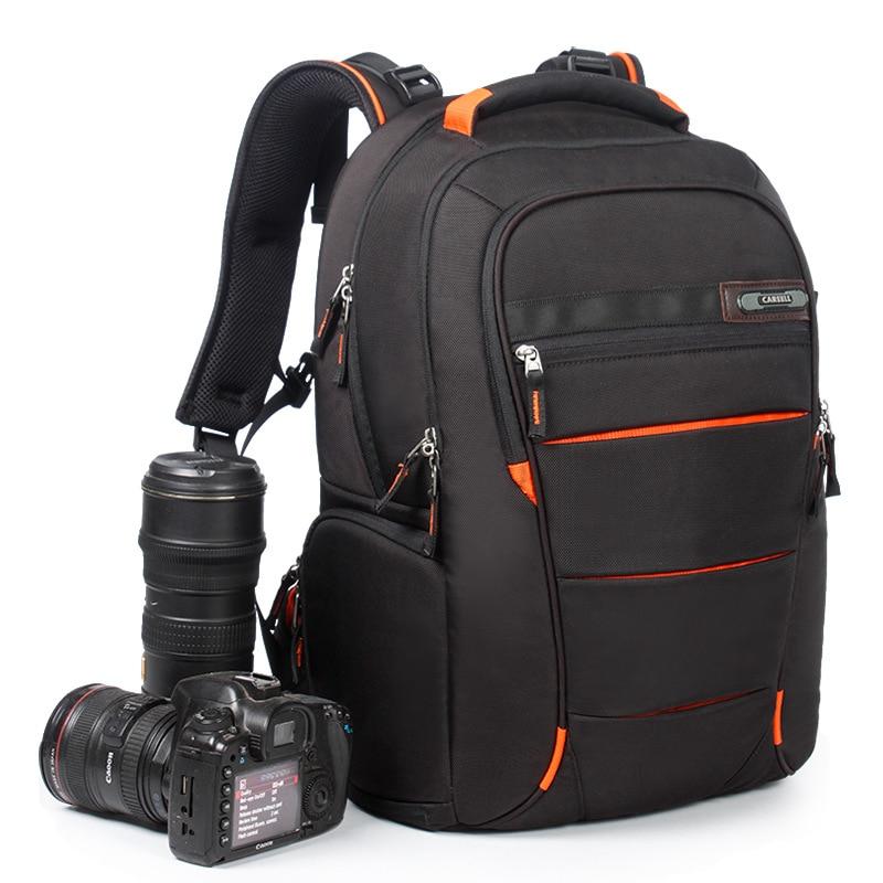 CAREELL uniwersalna torba duża pojemność torba na aparat fotograficzny DSLR torba na plecak na aparat podróży plecak dla Canon Nikon Sony kamery cyfrowe w Torby na aparaty/kamery od Elektronika użytkowa na AliExpress - 11.11_Double 11Singles' Day 1