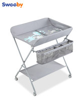 Multifunctional baby diaper table massage nursing table folding newborn changing tables clothes touch seat(China)