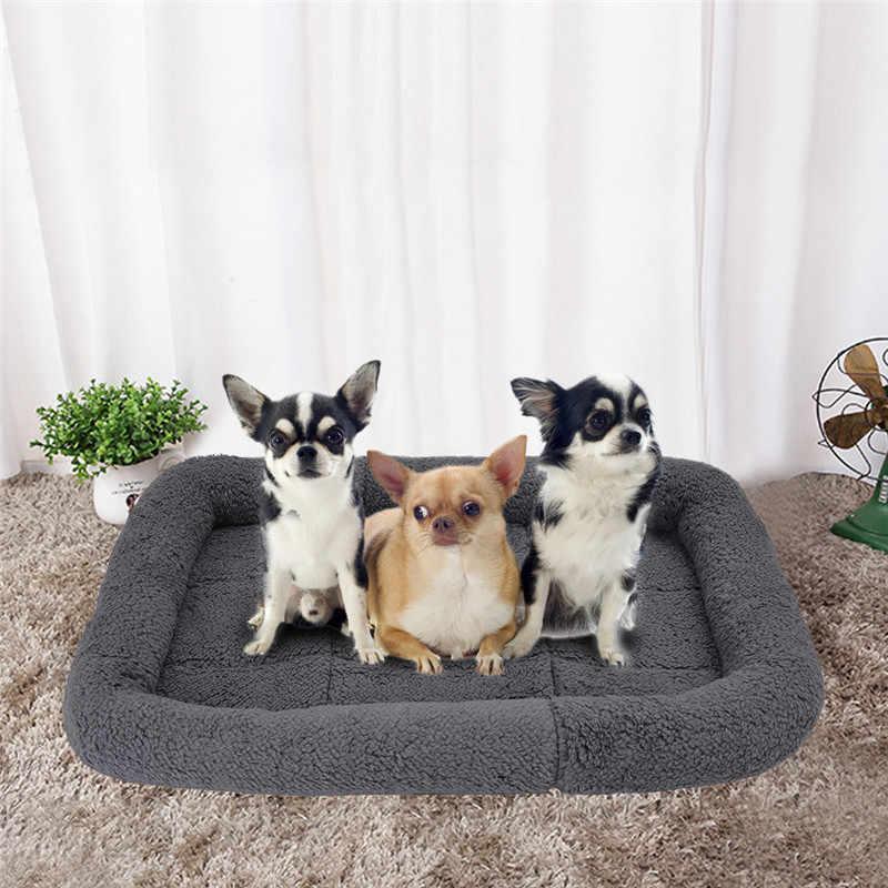 ソフトフリース巣ペット犬マット暖かい小屋小中大犬秋冬マット防湿ペットベッド温暖化犬小屋