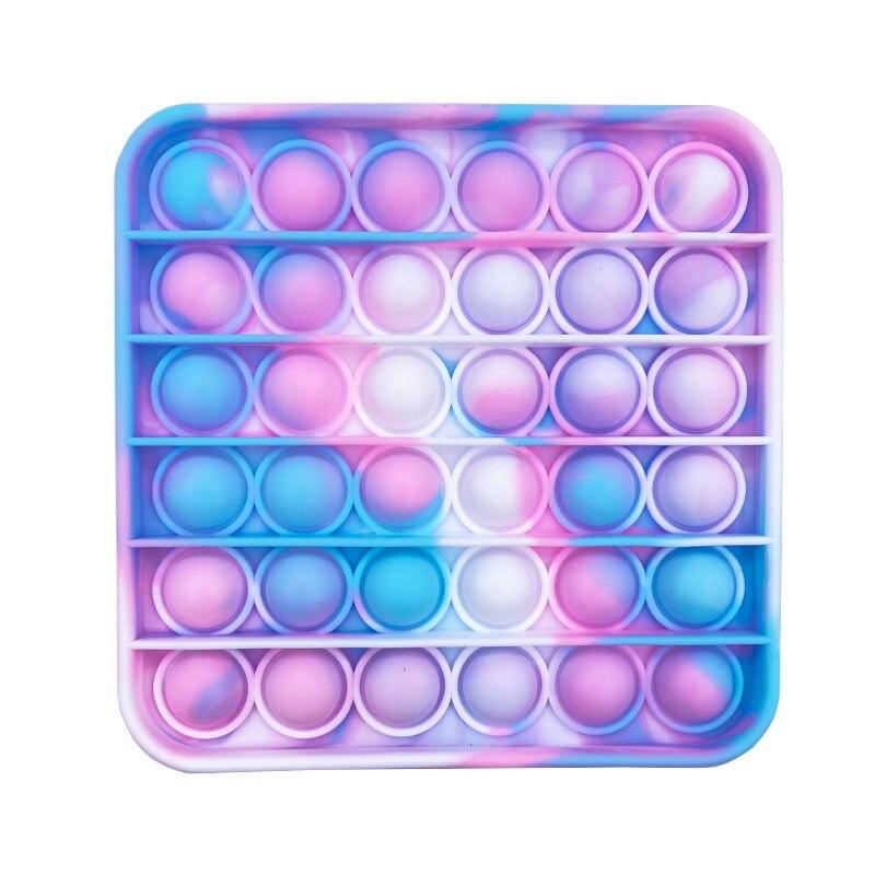 Пуш-ап пузырь сенсорная Непоседа Ящик для игрушек мягкие Figet игрушки для снятия стресса для взрослых и детей, антистрессовые Reliver