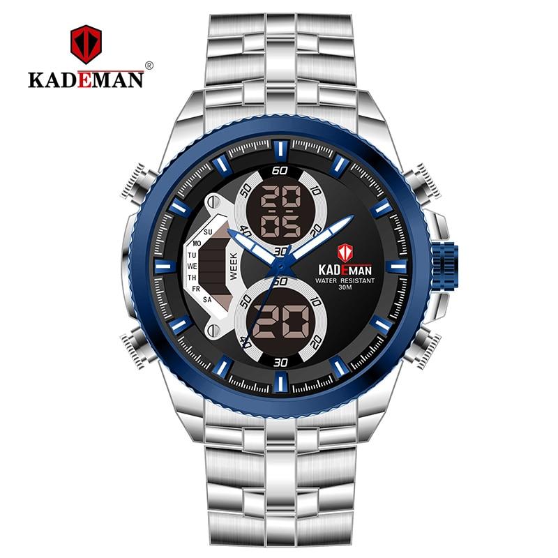 Men's Watches Digital KADEMAN Sport Waterproof Fashion Luxury Brand K558 LED 3ATM TOP