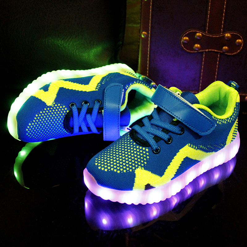 Kids Light Up Shoes For Kids Boys Glowing Sneakers For Boy&Girl USB Charging Illuminated Krasovki Luminous Sneakers LED Shoes