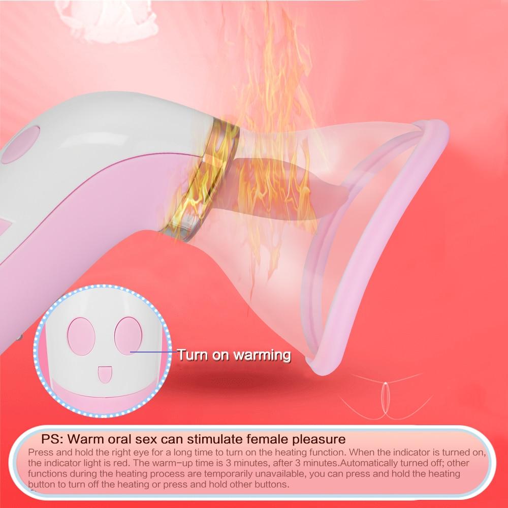 Tongue Dildo Vibrator For Women Heating Nipple Sucker Tight Oral Licking Clitoris Stimulate Masturbate Erotic Sex Toys for Woman