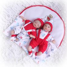 купить 20cm Mini twins Bebe Reborn Doll 3/4 Silicone Dolls Real doll photo touch soft Simulation baby early education Kids Gift toy дешево