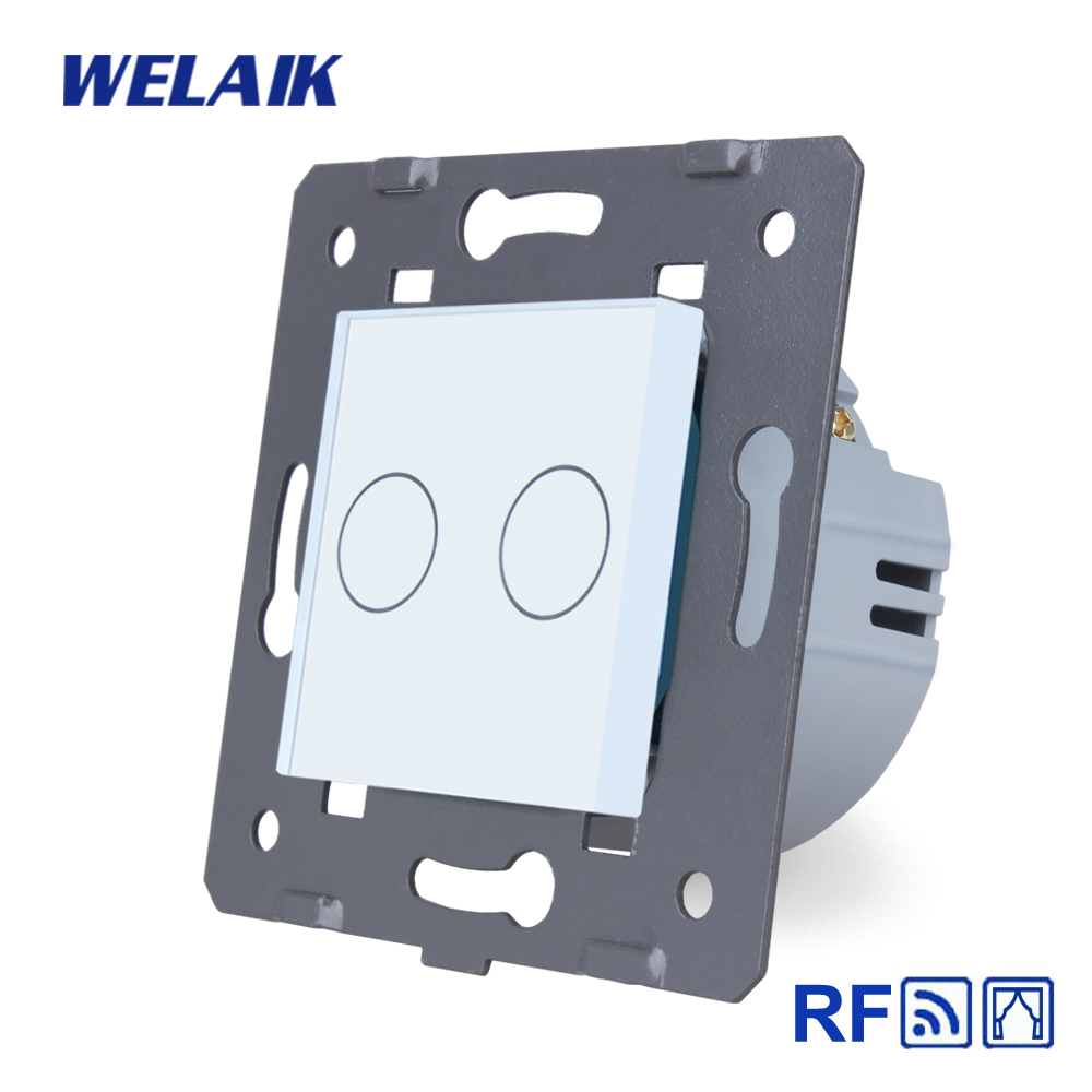 WELAIK EU RF  Blinds-Glass Panel-Wall Touch-Switch Remote-control Curtain-touch switch-DIY-Parts AC250V A923CLW