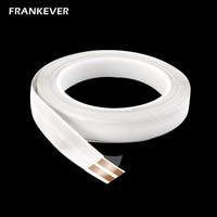 FrankEver 23 AWG conductores blanco superfino plano OFC LED Cable de iluminación Flexible Cable Invisible después de montar ancho 1 5 CM