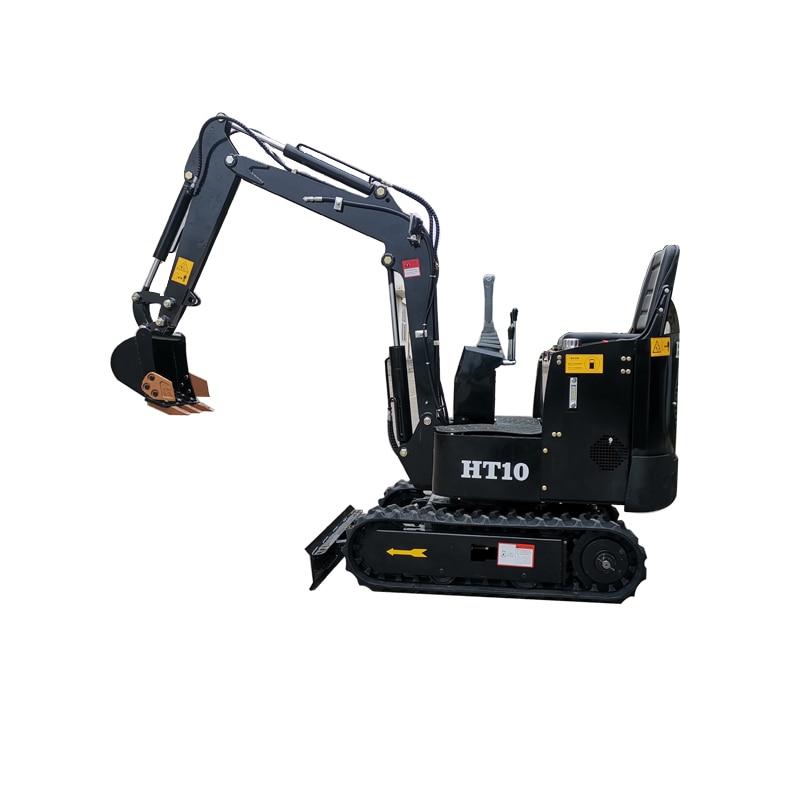 2020 novo preto de alta eficiência fácil operação mini pequena máquina escavadora de 1 tonelada