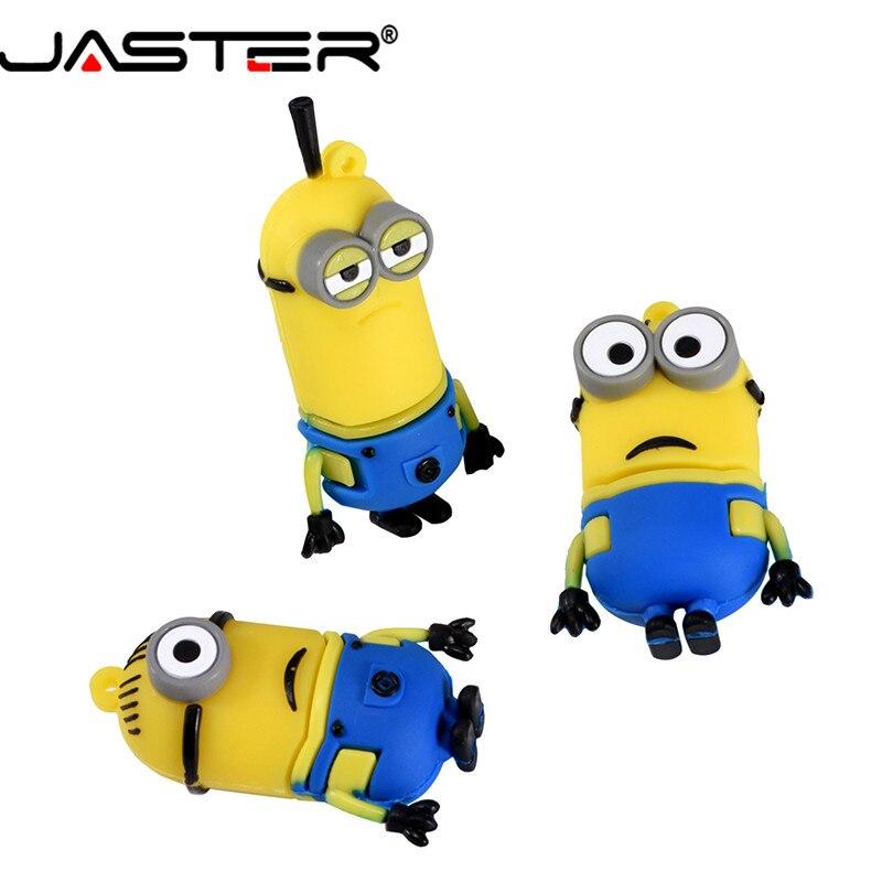 JASTER Funny Minions Memory Stick 8GB 4GB 16GB Cute Cartoon Pen Drive 32GB 64GB Usb Flash Drive Pendrive USB 2.0 Free Shipping