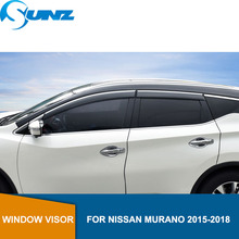 Side Window Deflectors For NISSAN MURANO 2015 2016 2017 2018  Visor Vent Shades Rain Deflector Guard car styling SUNZ