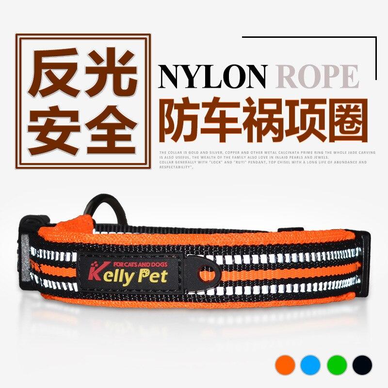 Reflective Yarn Velcro Collar Comfortable Dog Neck Ring Night Reflective Warning Neck Ring Pet Supplies
