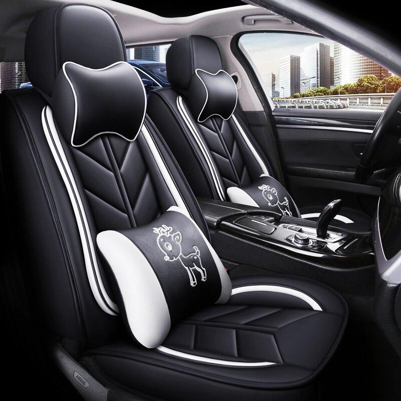 Pełne pokrycie eko-skórzane pokrowce na siedzenia samochodowe siedzenie samochodowe ze skóry PU pokrowce na Citroen suzuki spash swift sx4 jimny sx4s krzyż