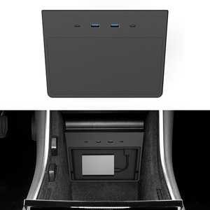 Image 3 - สำหรับ Tesla รุ่น3ชาร์จไร้สาย Pad USB Hub 5/6พอร์ต SSD Disk Sticks คอนโซลกลางชุดหน่วยความจำอุปกรณ์จัดเก็บข้อมูล tesla