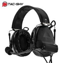 TAC-SKY COMTAC II Silicone Earmuffs Edition Hearing Defense Noise Reduction Pickup Military Tactical Headphones  BK