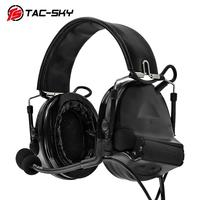 outdoor sports TAC-SKY COMTAC II silicone earmuffs version outdoor hunting sports military noise reduction pickup tactical headset BK (2)