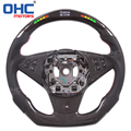 LED Display Steering Wheel compatible for BMW-5 Series 530d e60 LED Performance Steering Wheel with carbon fiber