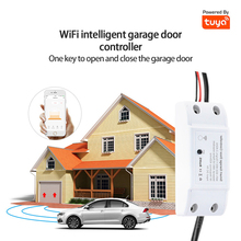 WIFI Garage Door Networking Controller TUYA APP Control Voice Control Anti-theft Alarm Compatible With Smart Life / Tuya Smart