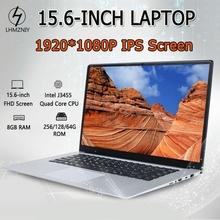 15.6 Inch 8GB RAM 128GB SSD Notebook J3455 Quad Core Laptops FHD 1080P Display Windows 10 Ultrabook EU Plug