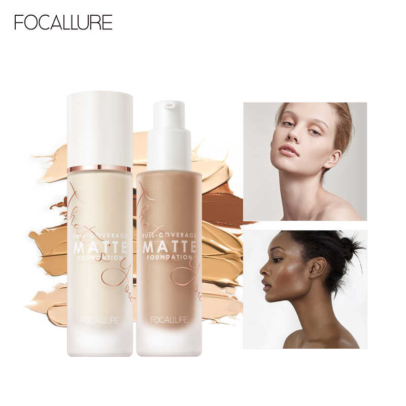 FOCALLURE Convermax Full Coverage Foundation Oil Control Face Makeup 20 Colors Matte Liquid Base Foundation