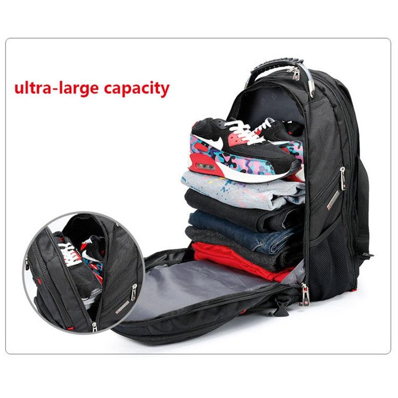 Crossten Durable 17 Inch Laptop Backpack,45L Travel bag,College Bookbag,USB Charging Port,Water Resistant,Swiss-Multifunctional