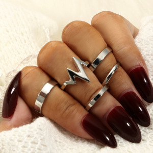 2019 Europe And The United States New Fashion Popular Ring Ecg Women's Ring 5 Piece Set Ring Wholesale Women's Clothing Sales